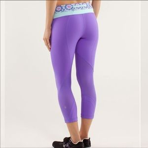 Lululemon Run Inspire Crop Purple Aquamarine 10
